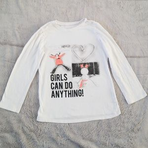 "Girls ""Girls can do anything"" long sleeve tee"